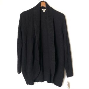 Sweaters - $69 Style &co open knit cardigan black NWT